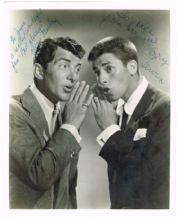 Dean Martin and Jerry Lewis Autograph Signed Photo
